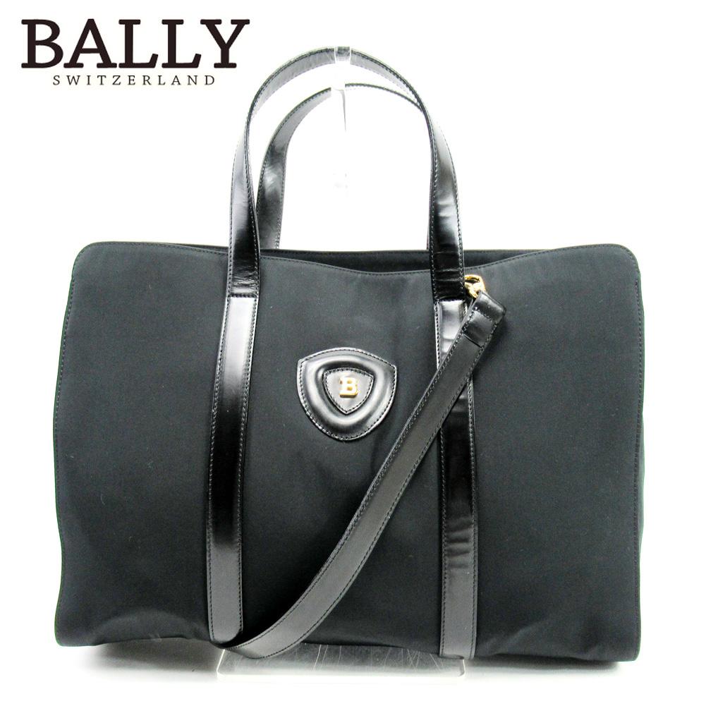 【中古】 バリー BALLY ハンドバッグ 2WAYショルダー レディース メンズ ブラック クリスマス プレゼント バック ブランド 人気 収納 在庫一掃 1点物 兼用 男性 女性 良品 C3699 .
