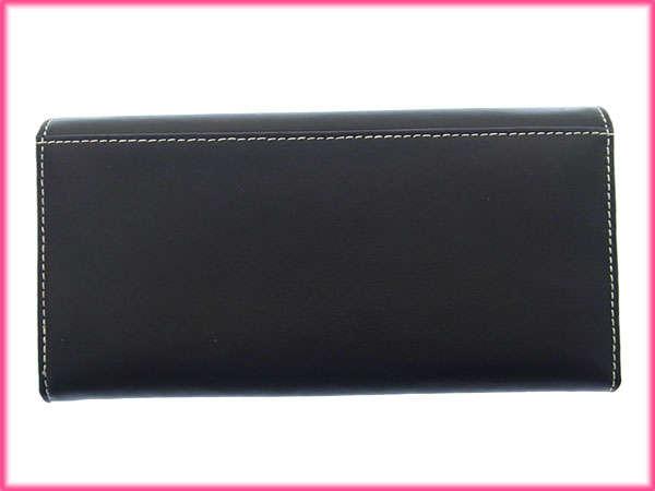 roberutaviviani Roberta Viviani长钱包拉链对开女士花动机黑色×白PVC×皮革(对应)未使用的物品人气D1081。