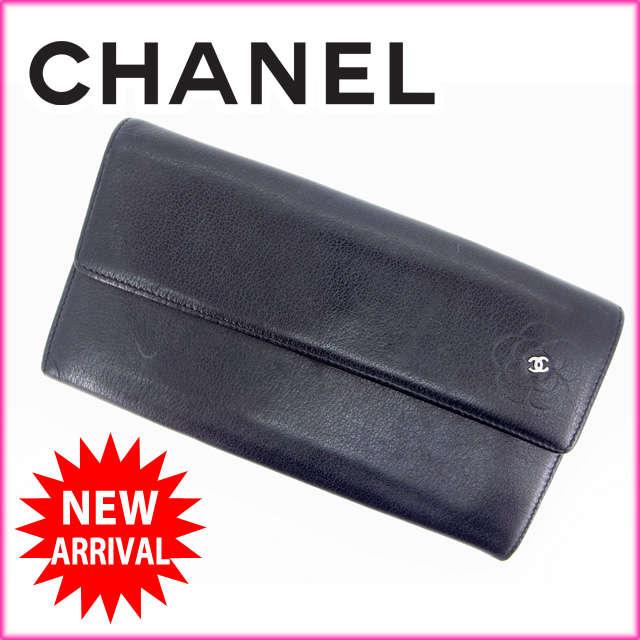 【中古】 【送料無料】 (良品) シャネル CHANEL 長財布 メンズ可 ココマーク レザー G431
