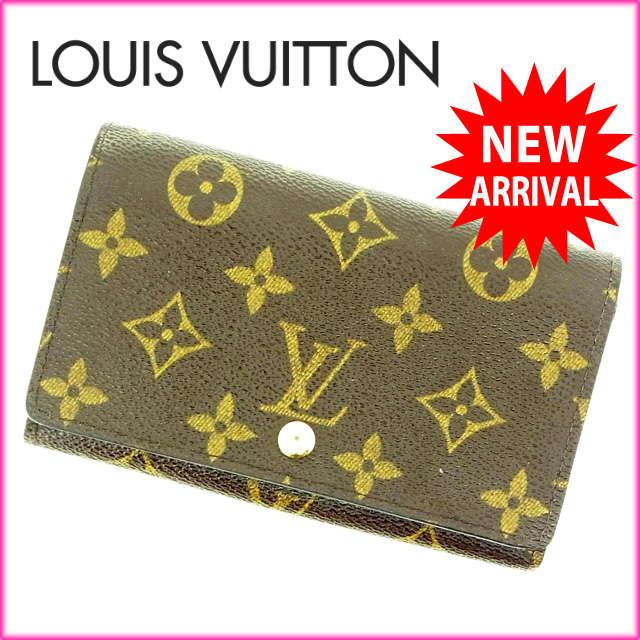 ルイヴィトン Louis Vuitton L字ファスナー財布 二つ折り メンズ可 /ポルトモネビエトレゾール モノグラム M61730 ブラウン PVC×レザー (あす楽対応)(良品・即納)【中古】 Y333