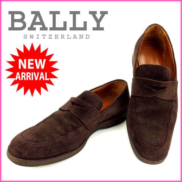 【中古】 【送料無料】 バリー BALLY シューズ #5 1/2 /メンズ ブラウン スエード (あす楽対応)(人気・良品) Y576