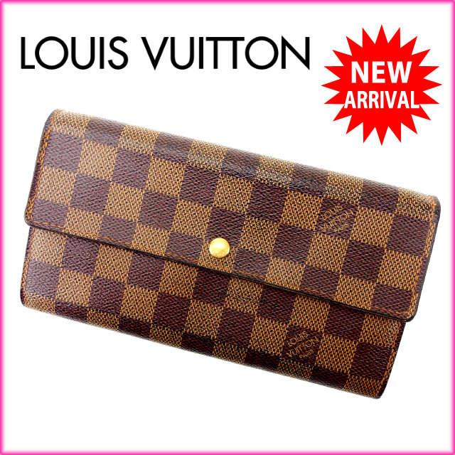【中古】 【送料無料】 ルイヴィトン LOUIS VUITTON 長財布 レディース /ポルトフォイユ・サラ ダミエ PVCレザ- 良品 人気 Y1208