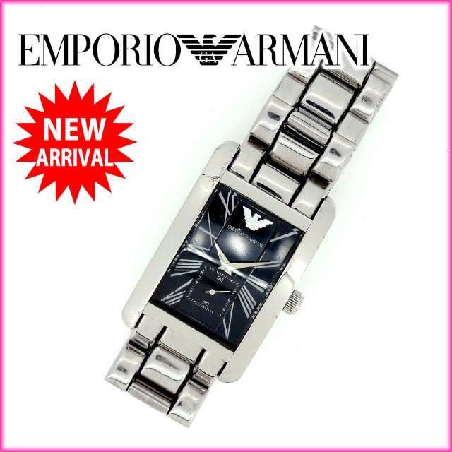 【中古】 【送料無料】 ARMANI 腕時計 メンズ可 シルバー (あす楽対応)人気 激安 Y1232