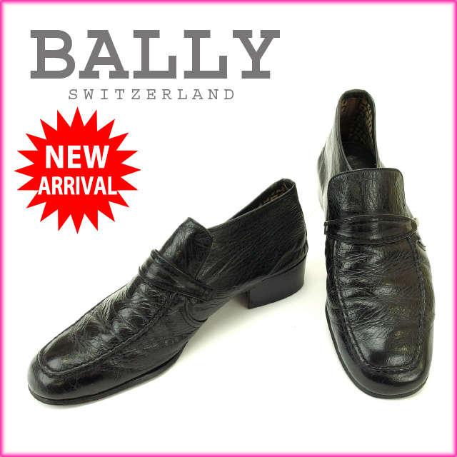 【中古】 【送料無料】 バリー BALLY シューズ #7E メンズ ブラック レザー (あす楽対応)人気 美品 Y1423