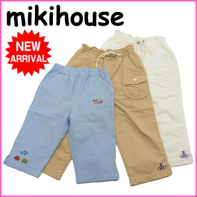 【新品】 ミキハウス パンツ 3点セット キッズ サイズ120 ロゴ mikihouse L004