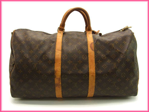 It is M868 Louis Vuitton Louis Vuitton Boston bag / travel bag / men's possible / key Poll band re-yell 55 monogram M41414 brown monogram canvas (correspondence) (deep-discount immediate delivery) (reference list price 174,300 yen)