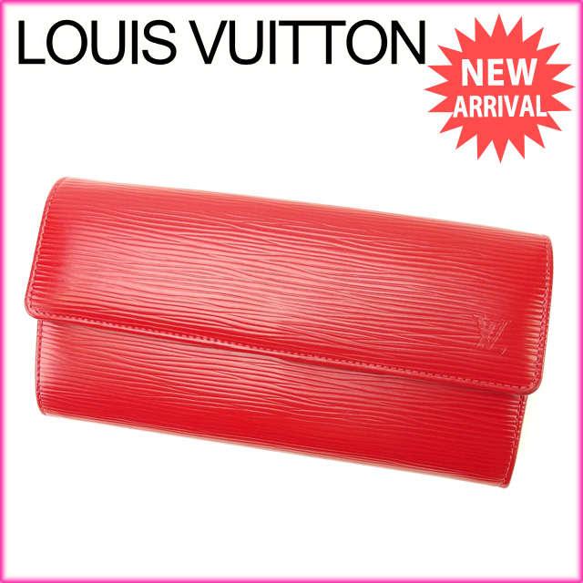 【中古】 【送料無料】 ルイヴィトン Louis Vuitton 長財布 ファスナー 二つ折り メンズ可 ポルトフォイユサラ エピ M60316 レッド PVC×レザー (あす楽対応)美品 人気 Y2196