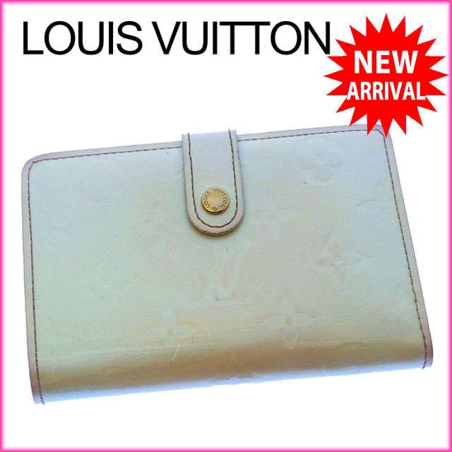【中古】 【送料無料】 ルイヴィトン Louis Vuitton がま口財布 二つ折り メンズ可 ポルトモネビエヴィエノワ ヴェルニ M91363 ペルル(ホワイト) パテントレザー (あす楽対応) Y2368