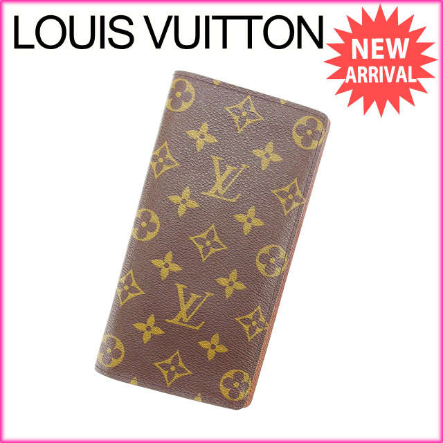 【中古】 【送料無料】 ルイヴィトン Louis Vuitton 長財布 ポルトフォイユ・ブラザ モノグラム M66540 ブラウン PVC×レザー (あす楽対応)美品 Y2620s