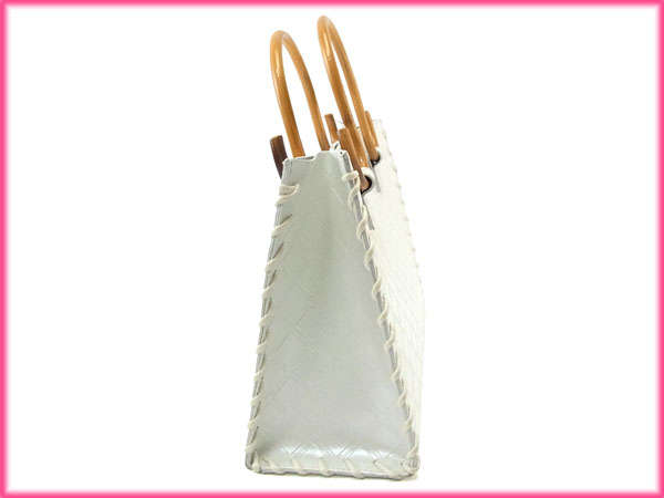 Samantha Samantha Thavasa handbags tote bags ladies wood handle ollare  White x natural leather   wood with beauty products sales A875 92490a000bbda