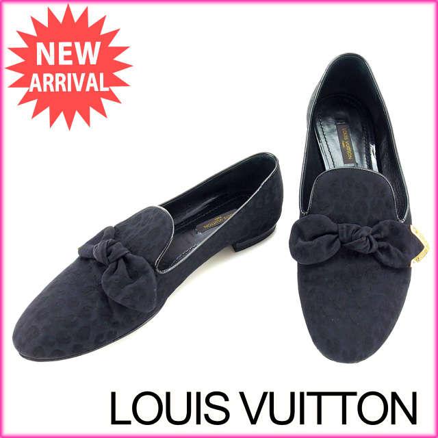 【中古】 【送料無料】 ルイヴィトン Louis Vuitton シューズ #37 レディース レオパード ブラック (あす楽対応) Y2978