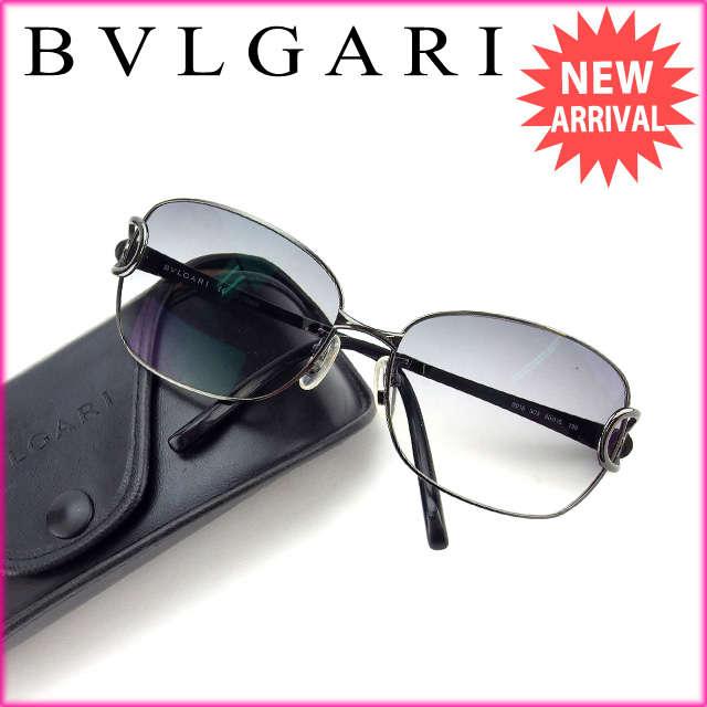 【中古】 【送料無料】 ブルガリ BVLGARI サングラス 度入り メンズ可 ブラック (あす楽対応) Y2981