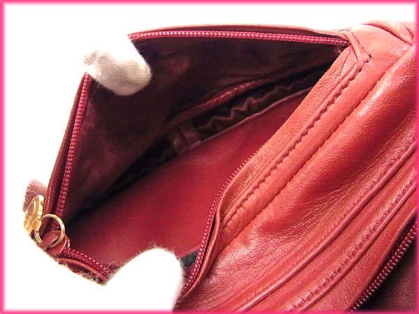 구찌 GUCCI 웨스트 가방 waist pouch 레이디스 로고 매력 보르도×골드 레더(대응) 우량품 세일 J9243