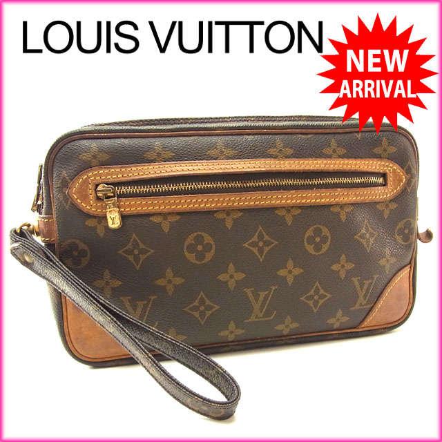 f6871d6ac6a5 Louis Vuitton Louis Vuitton second bag clutch bag men s possible マルリードラゴンヌ  GM monogram M51825 brown monogram canvas (correspondence) deep-discount ...
