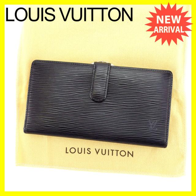 【中古】 【送料無料】 ルイヴィトン Louis Vuitton 長財布 がま口 二つ折り メンズ可 コンチネンタルヴィエノワ エピ M63252 ノワール(ブラック) エピレザー (あす楽対応)人気 Y3459