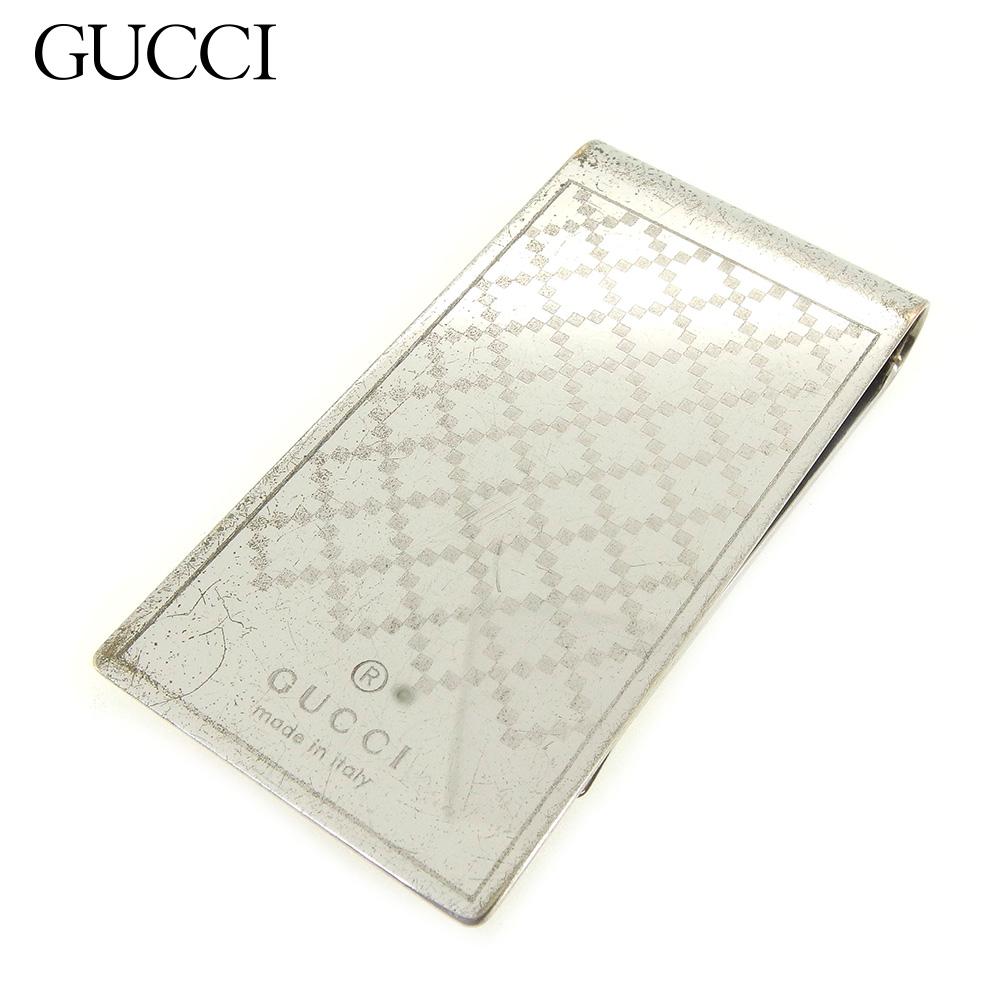 【中古】 グッチ Gucci マネークリップ 札クリップ レディース メンズ ディアマンテ シルバー 人気 セール E1348 .