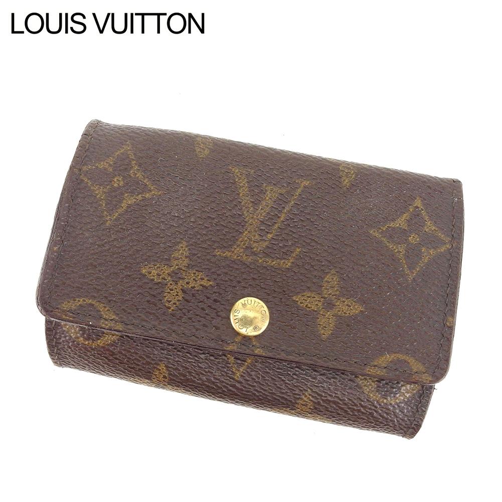 【中古】 ルイ ヴィトン Louis Vuitton キーケース 6連キーケース レディース メンズ ミュルティクレ6 モノグラム ブラウン モノグラムキャンバス 人気 良品 I529 .