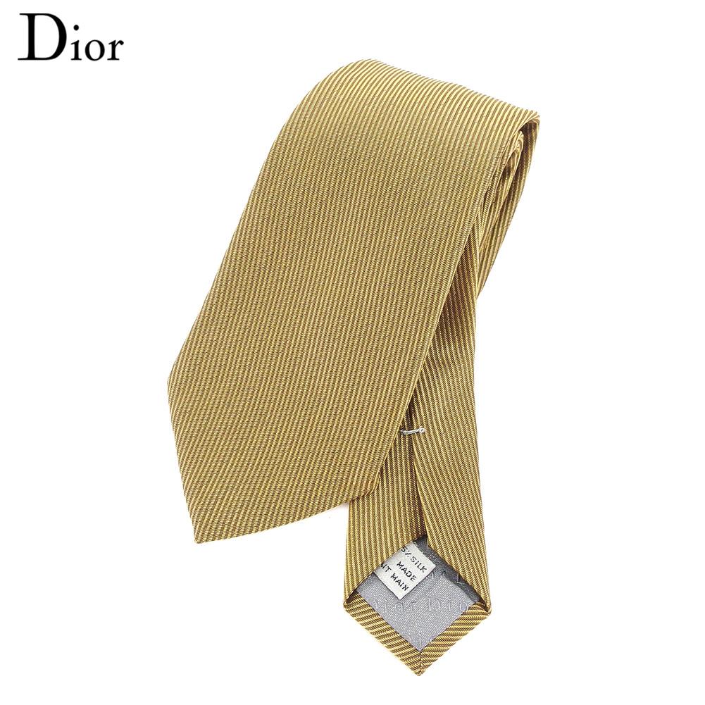 【中古】 ディオール オム Dior homme ネクタイ メンズ  ゴールド 人気 セール I536 .
