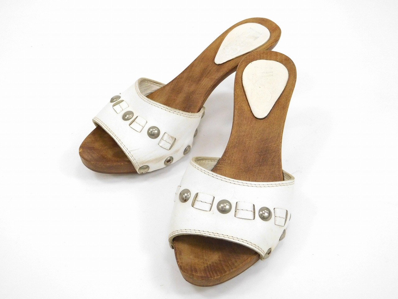2d5ab189 White X natural U4397 with Dolce & Gabbana DOLCE&GABBANA sandals  mule shoes shoes ...