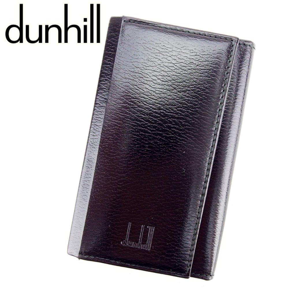 【中古】 ダンヒル dunhill キーケース 6連キーケース レディース メンズ 可  ブラック レザー 美品 セール D1848 .