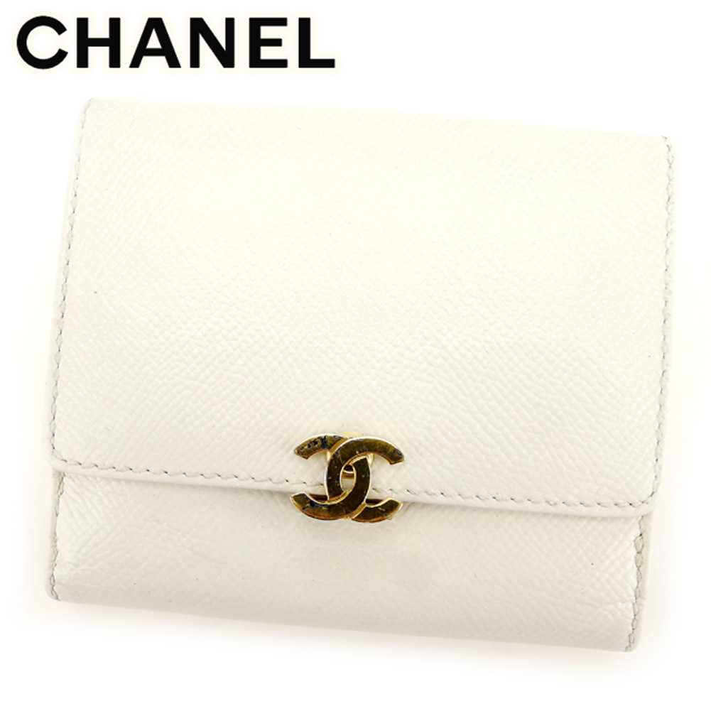 designer fashion 32852 61e82 ココマーク オールドシャネル レディース 二つ折り 財布 Wホック ...