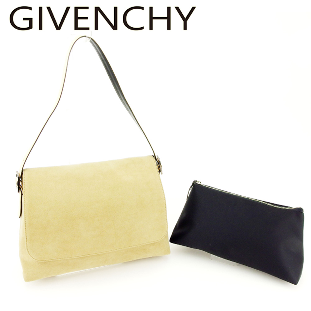 a98a1b47981 Beige black canvas X leather shoulder bag P756s with the ジバンシィ GIVENCHY  shoulder bag one shoulder ...