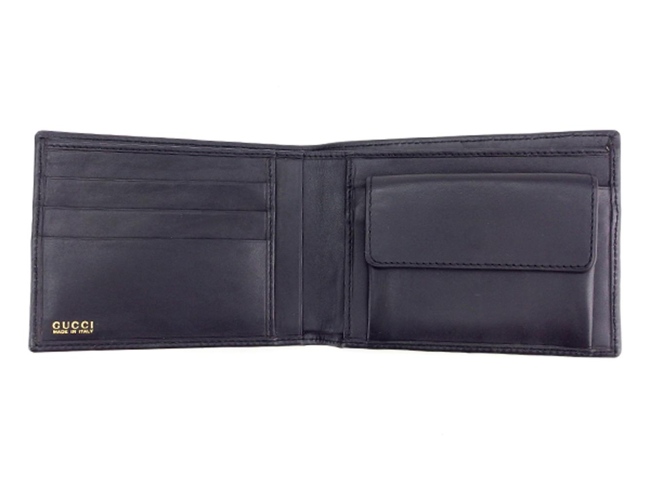 339c0739143c グッチ GUCCI 二つ折り財布 フェンディ セリーヌ 財布 メンズ可 ブラック ...