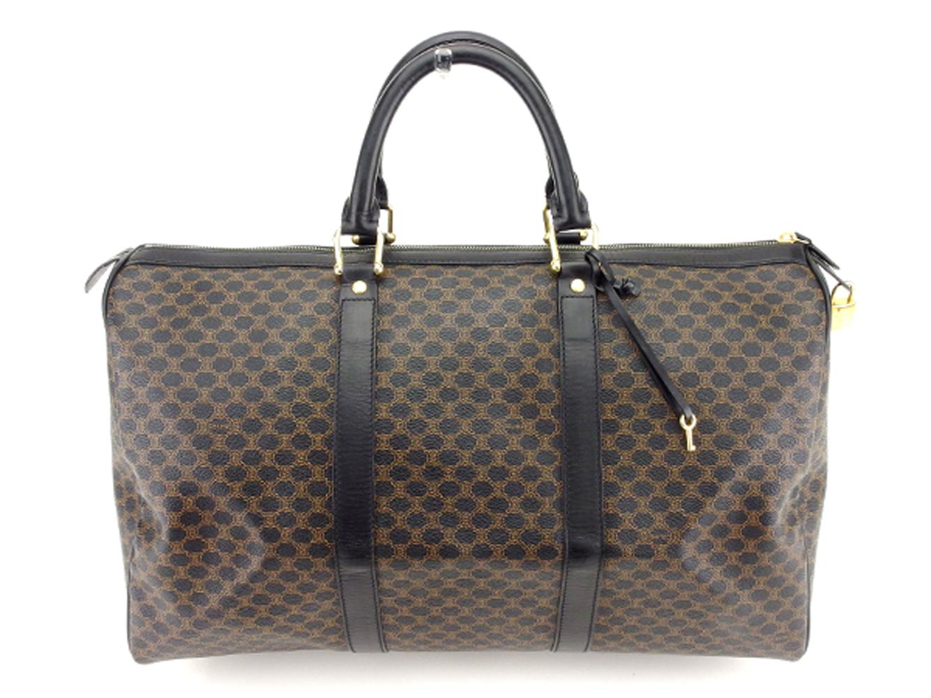 00b0923beb BRAND DEPOT  Celine CELINE Boston bag travel bag traveling bag lady s men s  possible macadam black beige gold PVC X leather popularity sale T7521
