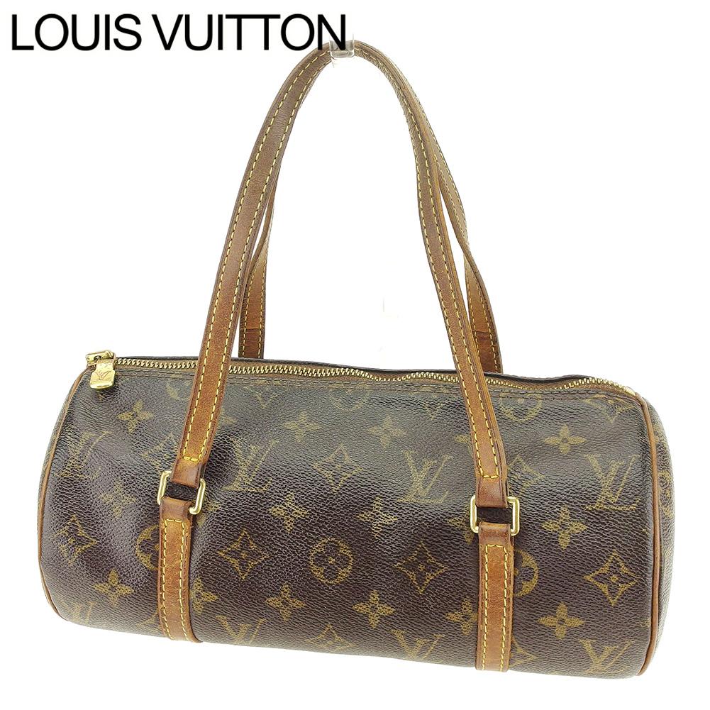 【中古】 ルイ ヴィトン LOUIS VUITTON ハンドバッグ レディース /パピヨン26 モノグラム ブラウン PVC×レザ- 人気 セール T7547 .