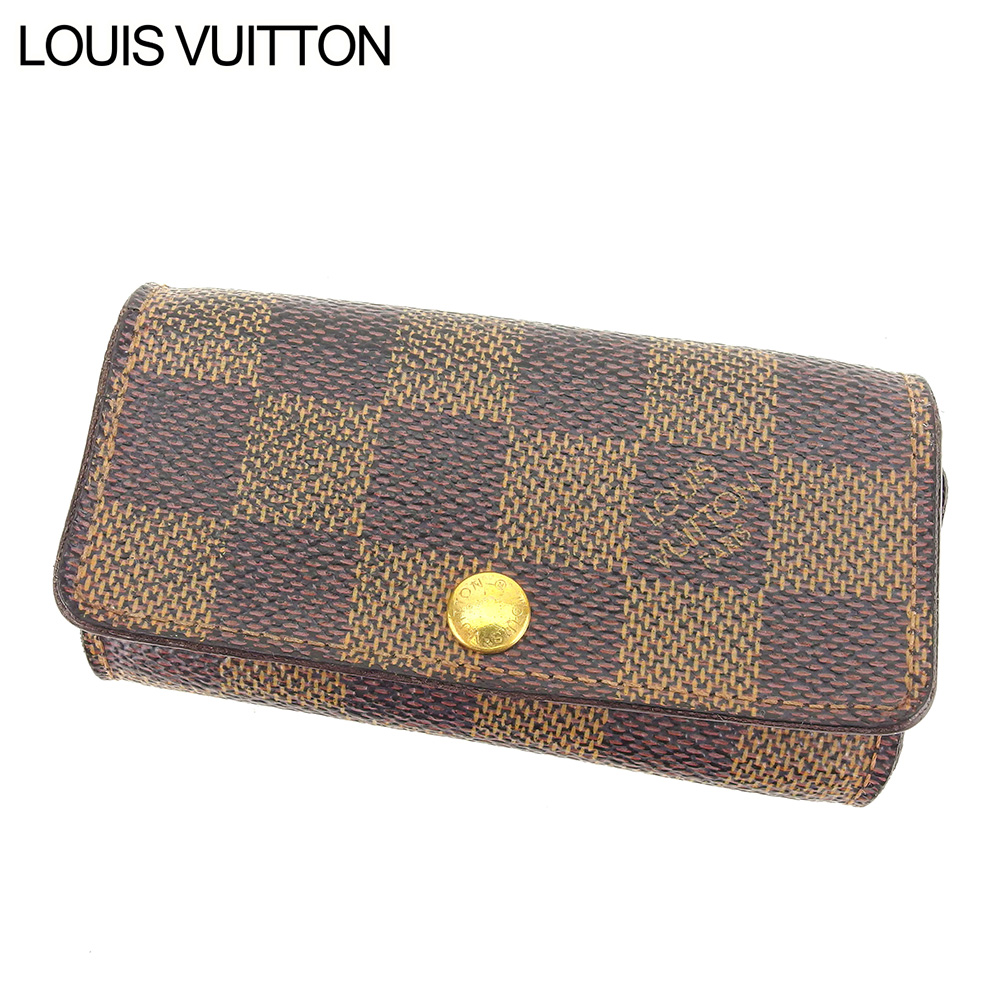 【中古】 ルイ ヴィトン Louis Vuitton キーケース 4連キーケース レディース メンズ ミュルティクレ4 ダミエ ブラウン ダミエキャンバス 人気 セール C3338 .