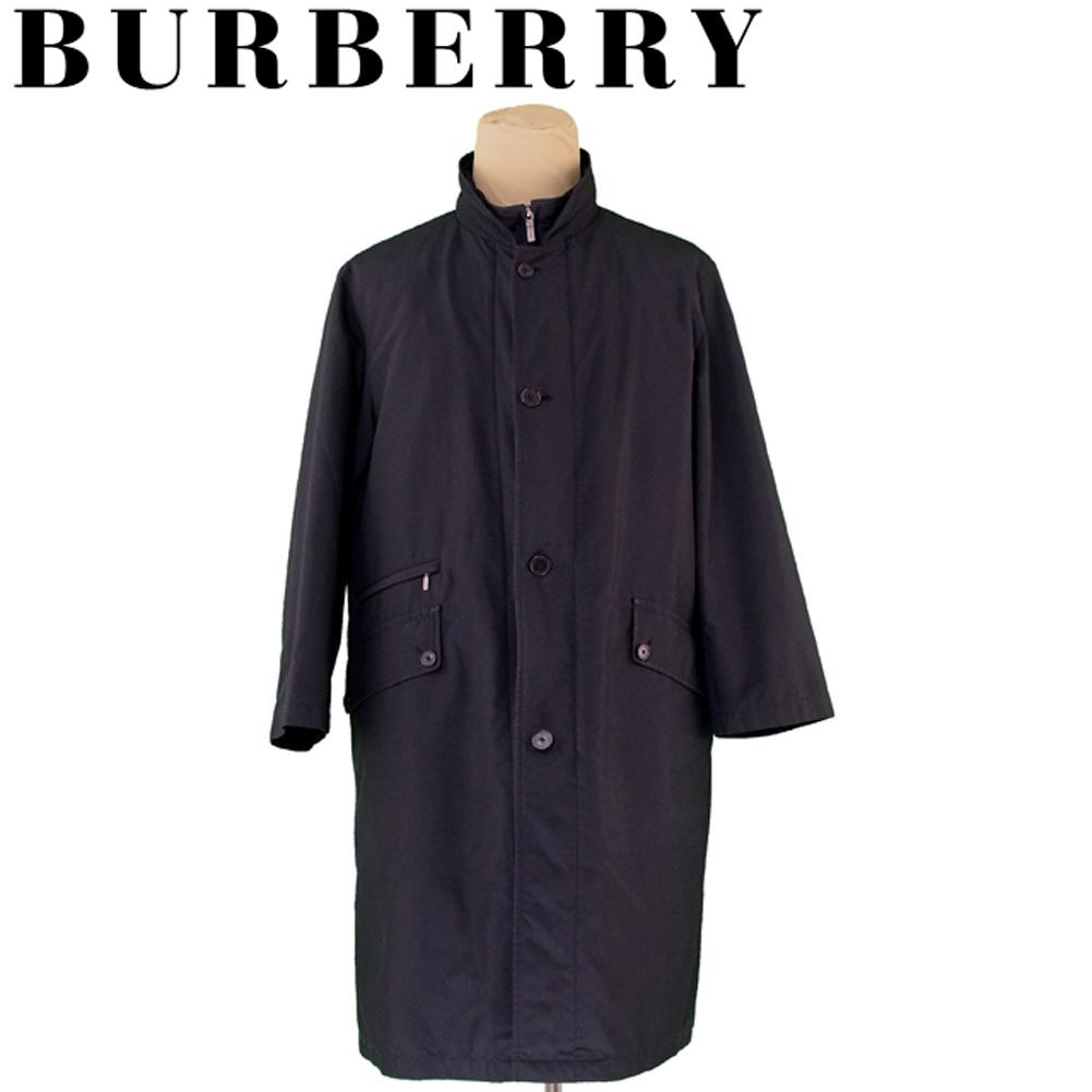 【中古】 バーバリー BURBERRY コート キルティングライナー付き メンズ ♯Lサイズ シングルボタン&ジップ ブラック ポリエステル 人気 セール G1311 .