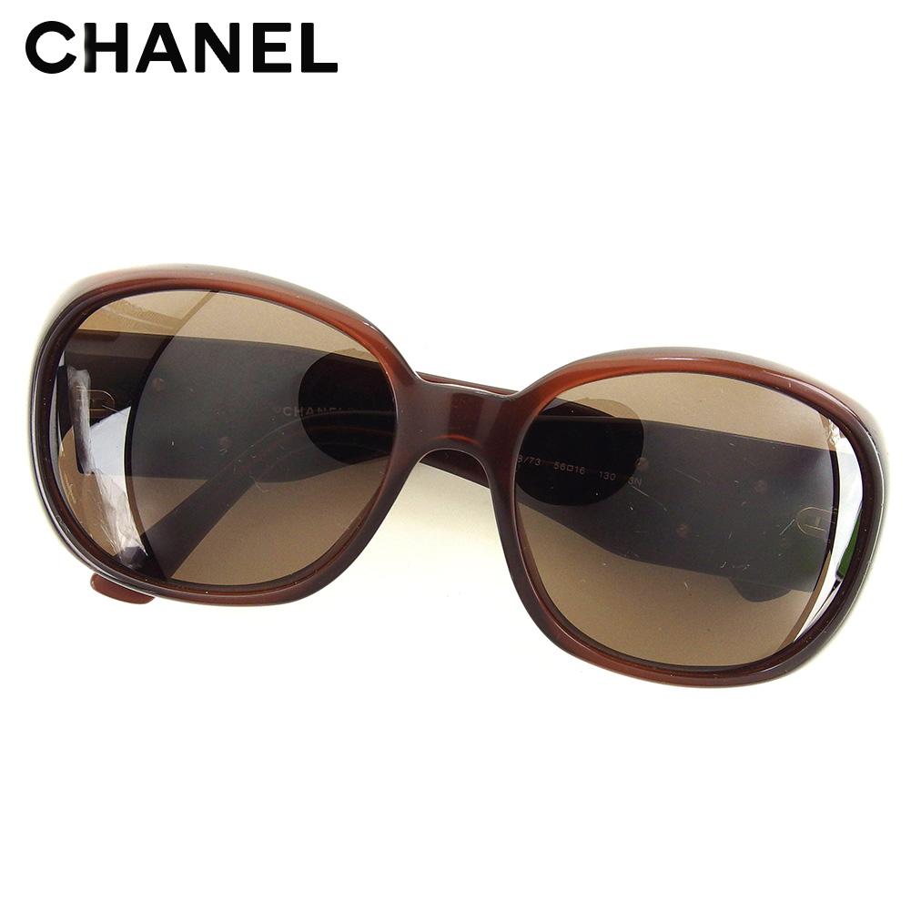 0640c1bb894 Chanel CHANEL sunglasses eyeware Lady s camellia brown popularity sale C3467