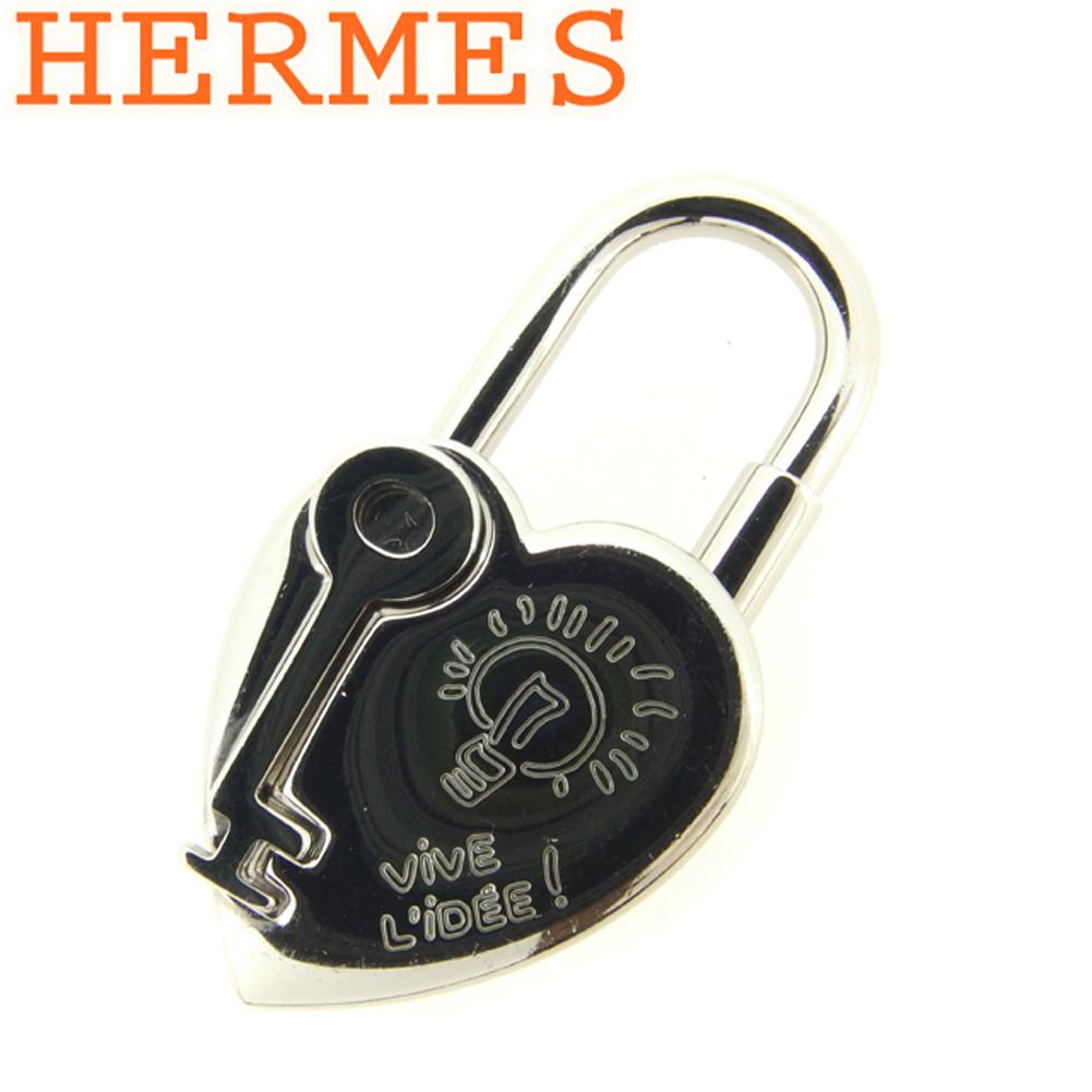 【中古】 エルメス HERMES カデナ チャーム キーホルダー レディース メンズ 2004年限定 ファンタジー ハートカデナ シルバー シルバー金具 廃盤 人気 T8012 .