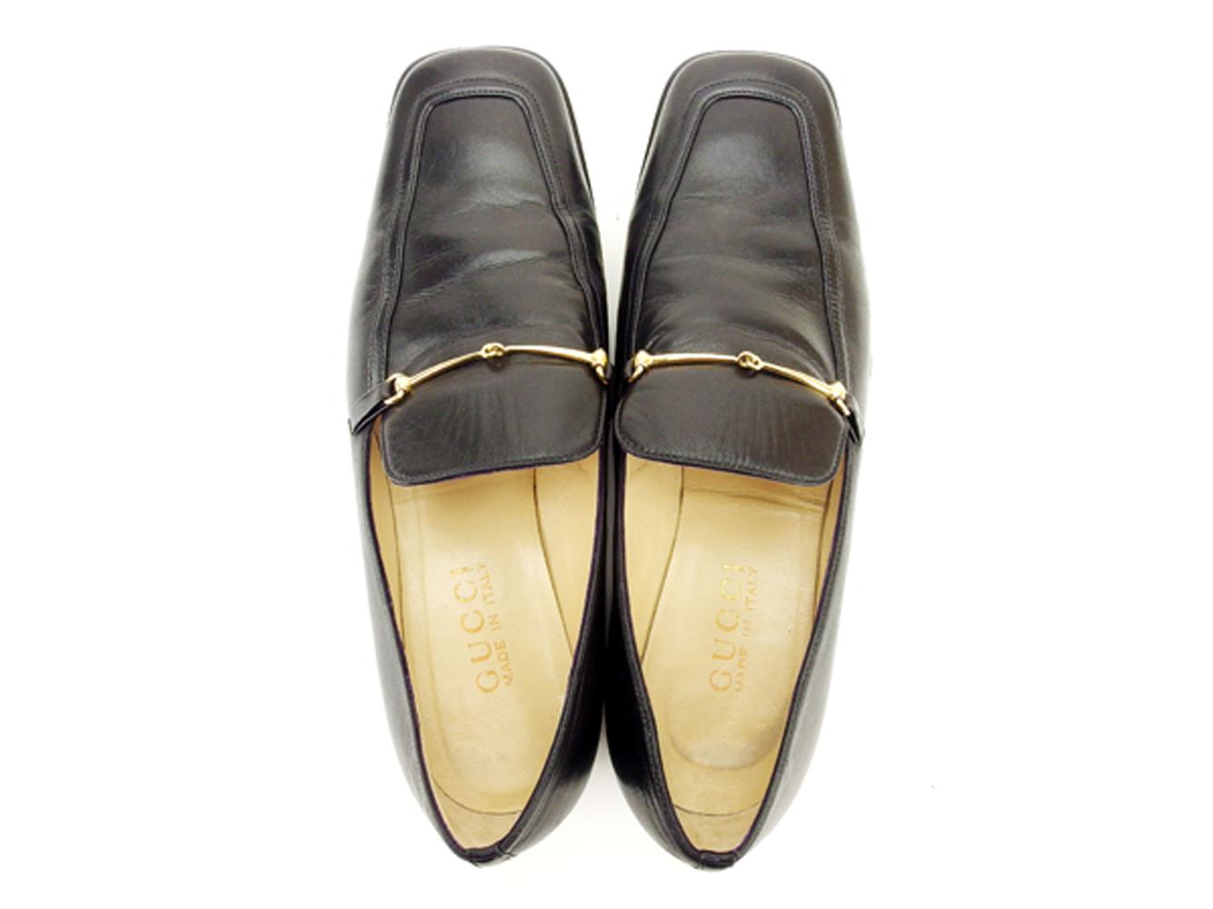 a263237ac ... Gucci GUCCI loafer #36 1/2 shoes shoes men's possible hose bit black  black ...