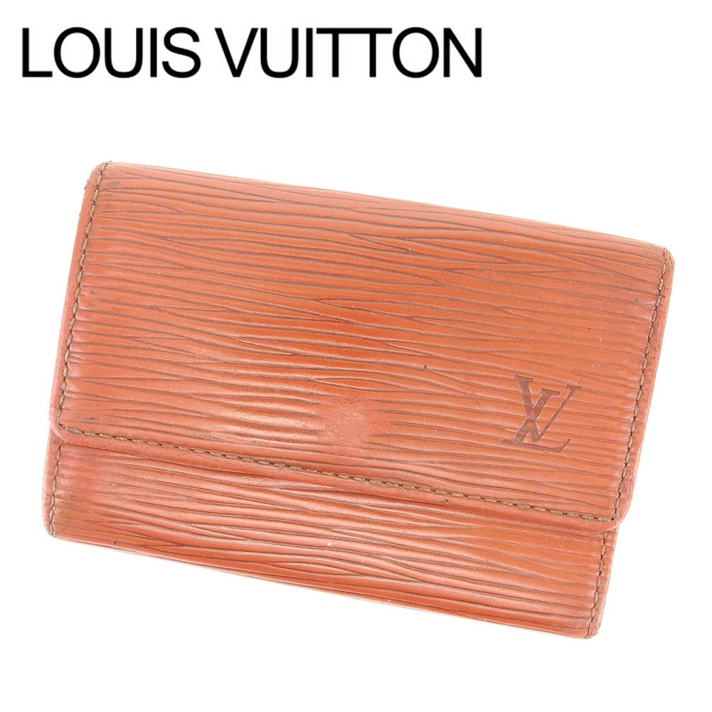 【中古】 【送料無料】 ルイ ヴィトン LOUIS VUITTON キーケース 6連キーケース レディース メンズ 可 ミュルティクレ6 エピ ブラウン エピレザ- 廃盤 レア T6607