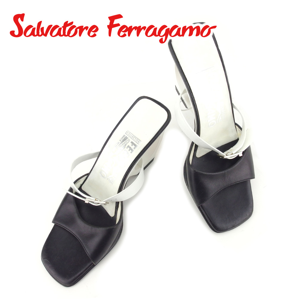 2ac5c5694731 Salvatore Ferragamo Salvatore Ferragamo sandal shoes men s possible  6 size  white white black leather popularity sale T6688.