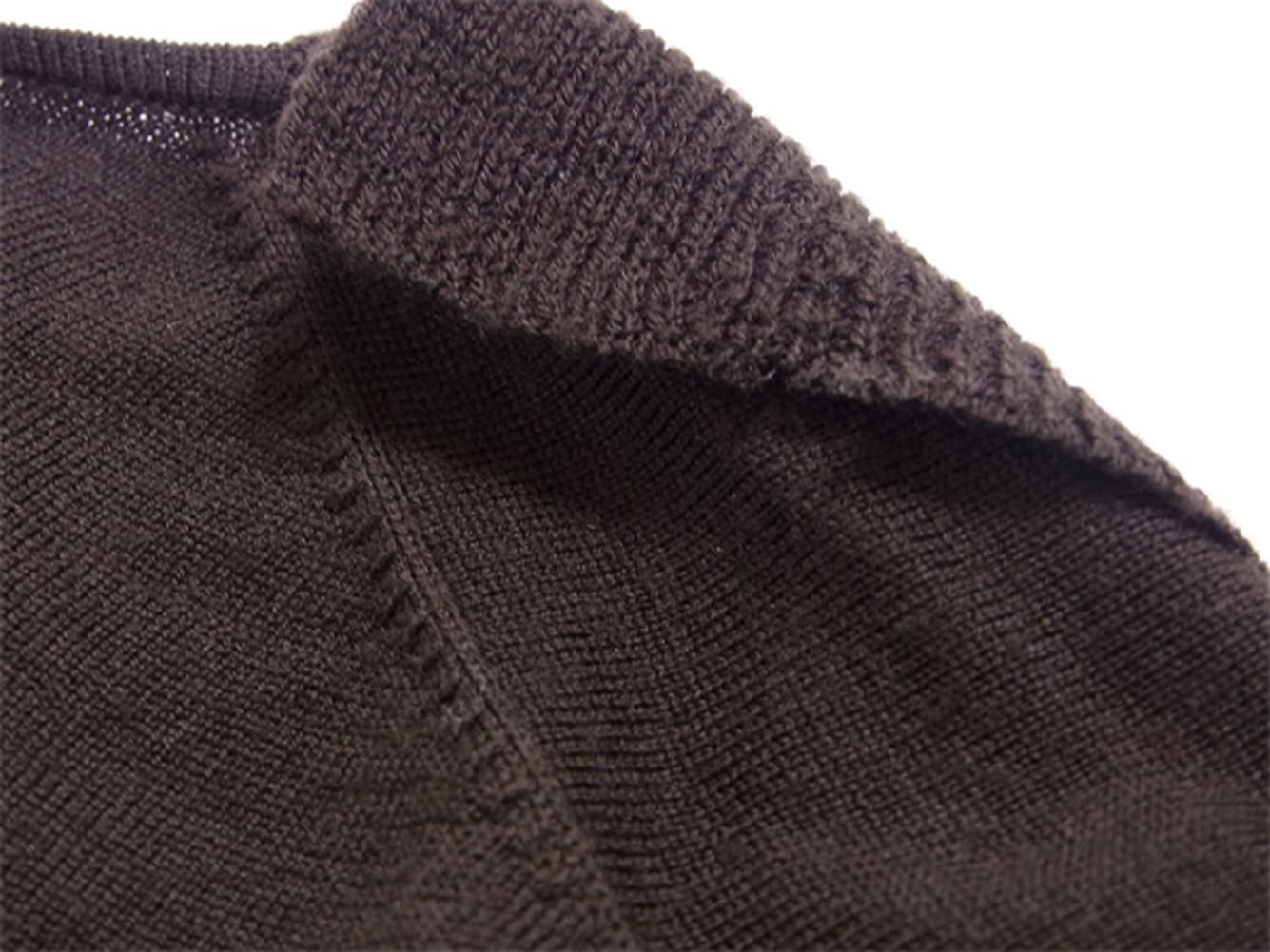 ウールWOOL/100% 衿付き カーディガン ニット ジバンシィ 【中古】 ♯XSサイズ 【送料無料】 レディース ブラウン Givenchy T5330