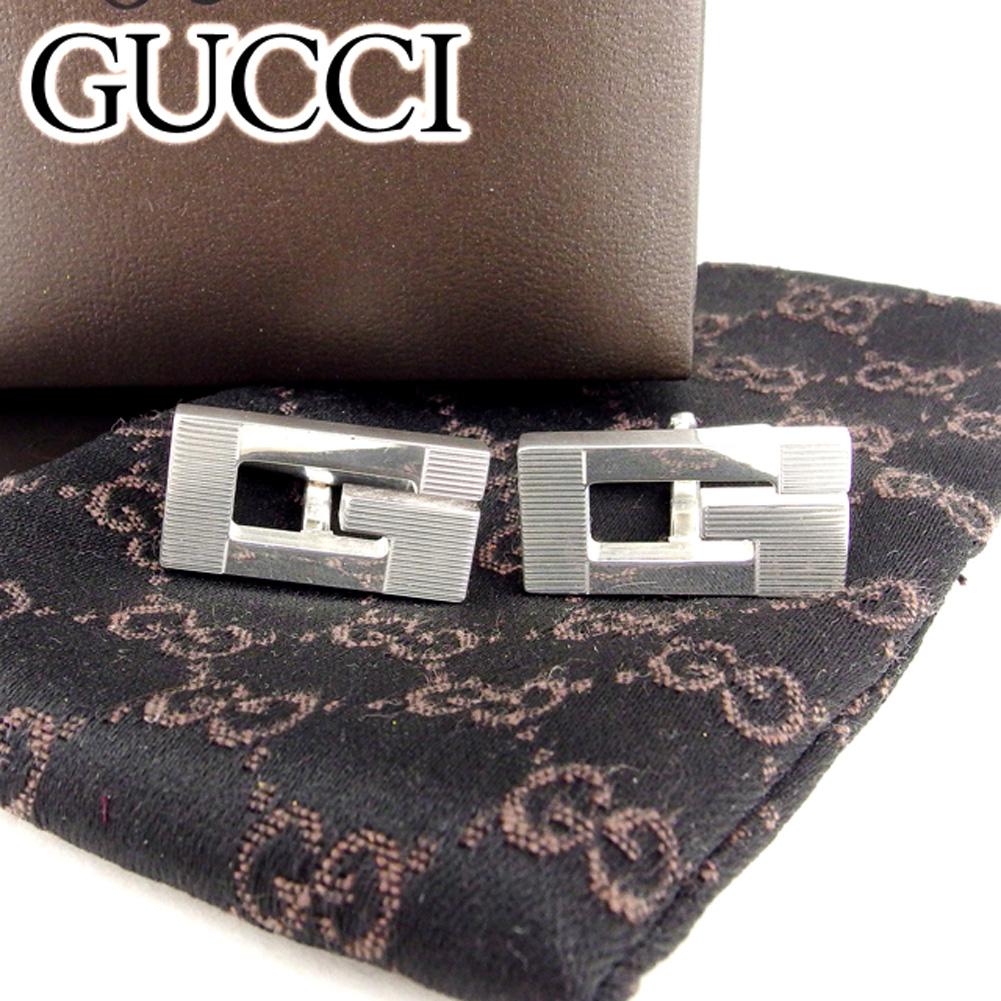 【中古】 グッチ GUCCI カフス メンズ Gマーク シルバー シルバー925 未使用品 セール T6705