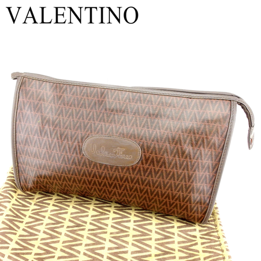 1b1f9115aaf32 Mario Valentino MARIO VALENTINO clutch bag second bag lady's men's possible V  motif brown PVC X ...