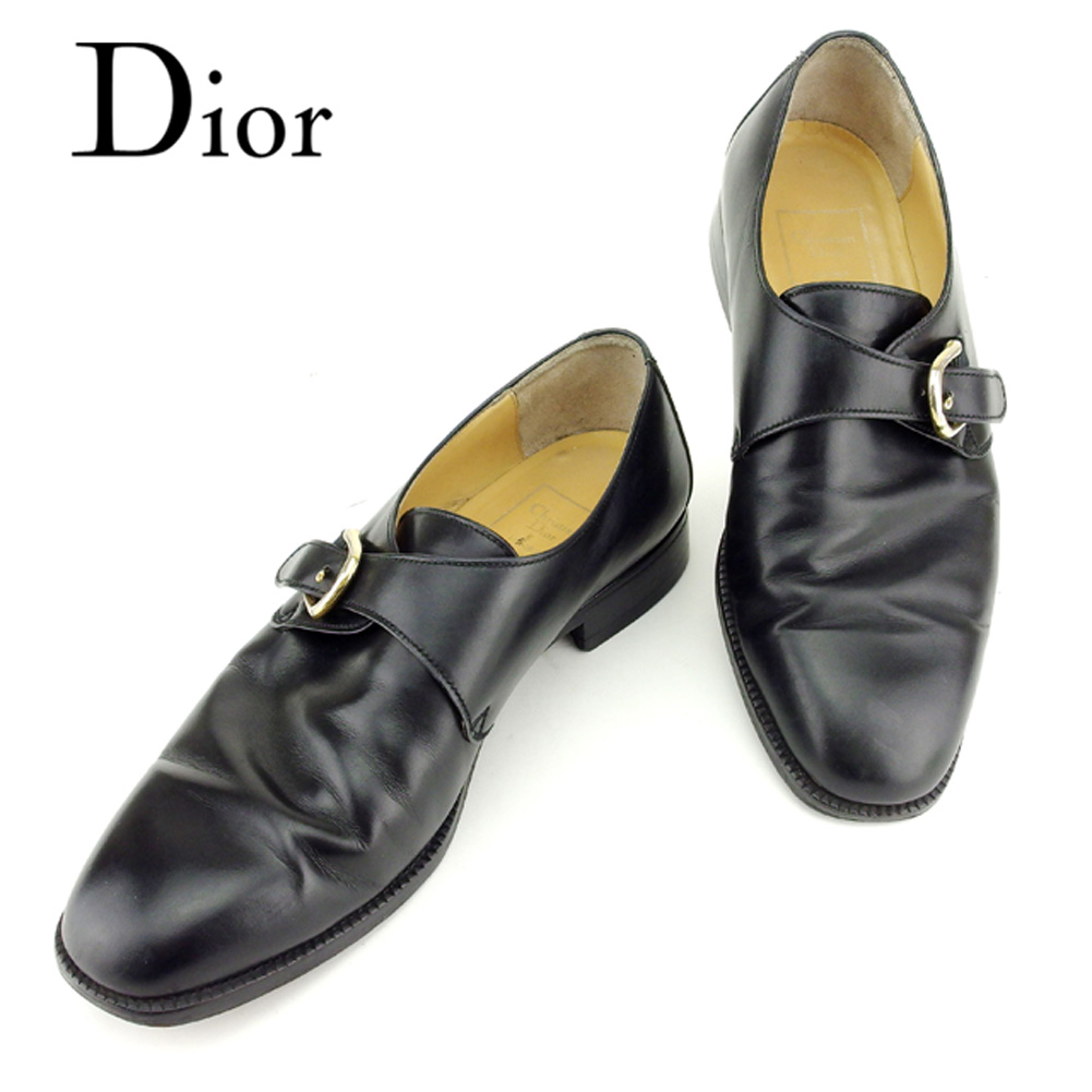 50900a49 Dior Dior MONSIEUR shoes shoes men Monk strap black gold leather shoes  T6943s ...