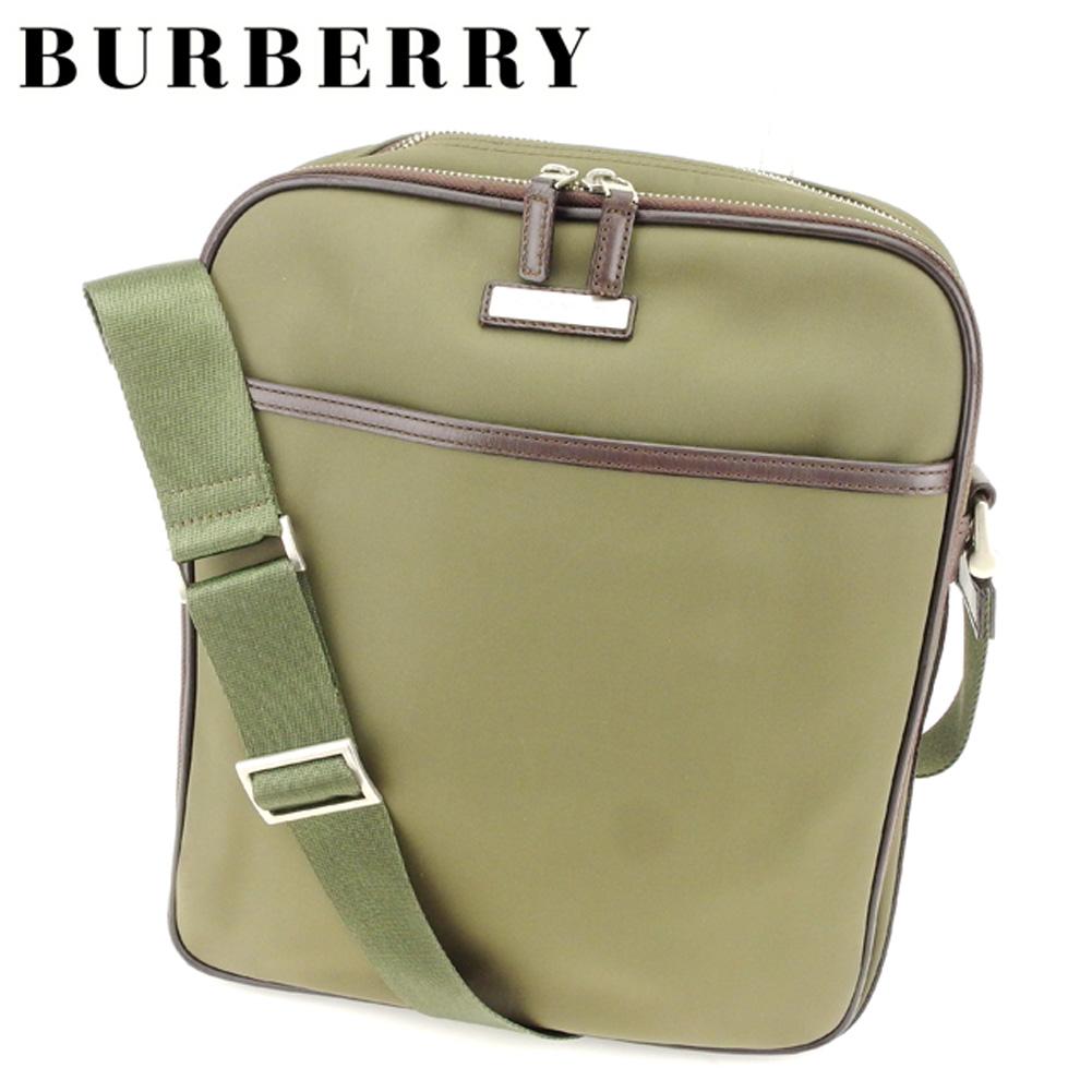 d701e2360193 It is shoulder lady s men s possible Novacek brown green nylon X leather  shoulder bag T7173s at Burberry BURBERRY shoulder bag bias