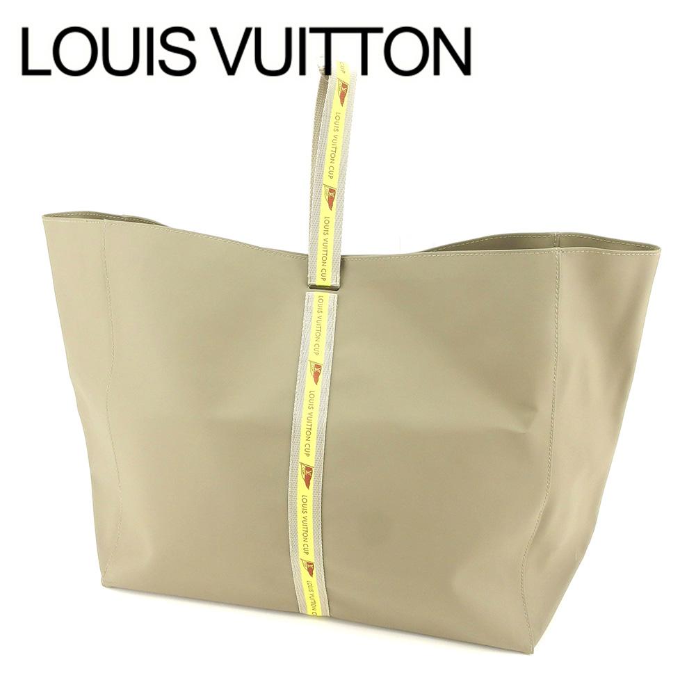 【中古】 ルイ ヴィトン Louis Vuitton トートバッグ ハンドバッグ レディース メンズ 可 ルイヴィトン・カップ グレー 灰色 イエロー ポリウレタン×ナイロントートバッグ T7231s .