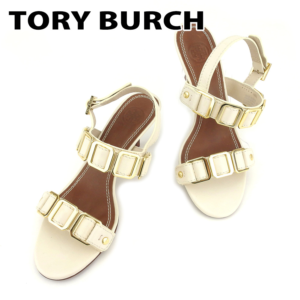 9aedd6d25 Tolly Birch Tory Burch sandals shoes shoes Lady s white white leather  sandals T7302s