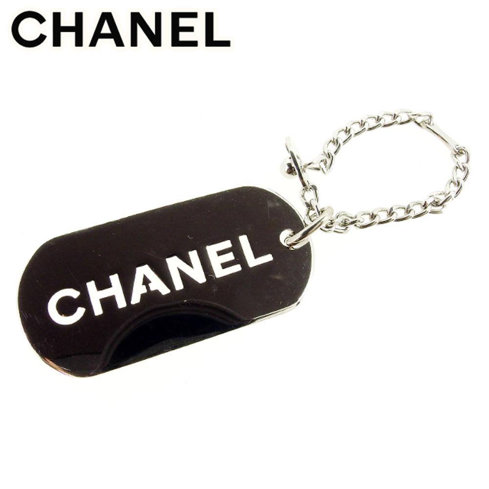 【中古】 シャネル CHANEL キーホルダー キーリング レディース メンズ 可 ロゴプレート シルバー ヴィンテージ 人気 T7638 .
