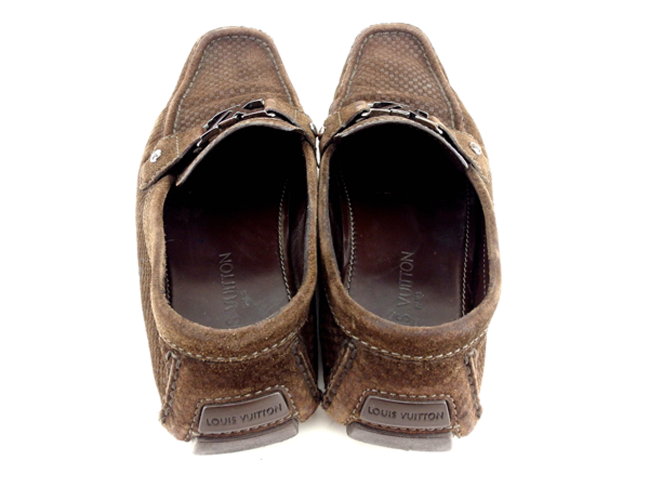 3ded8264 Louis Vuitton Louis Vuitton loafer shoes shoes men LV  プレートドライビングダミエブラウンシルバースエード popularity sale H577