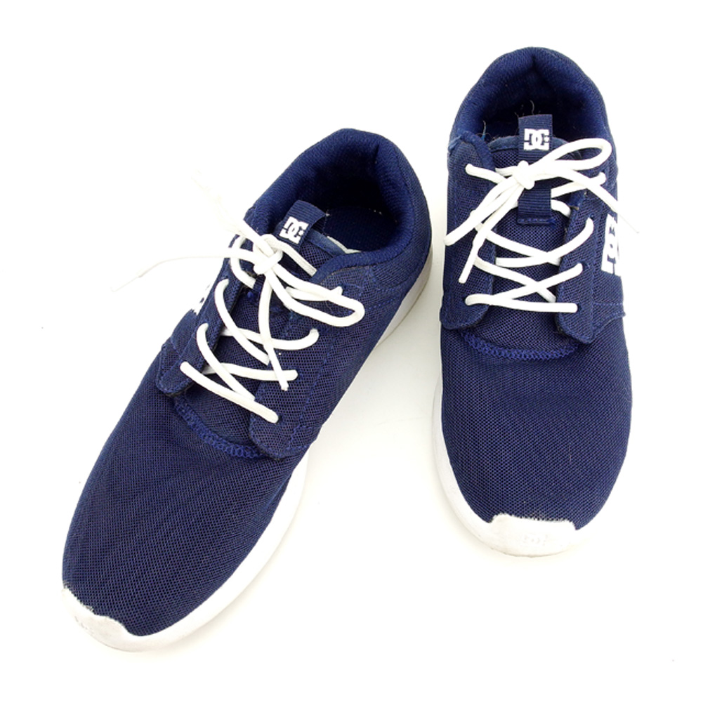8a727ef7ad51 D sea shoes DC SHOES sneakers shoes shoes Lady s ♯ 24.0 low-frequency cut  Midway navy white white mesh canvas X rubber popularity sale T7804.