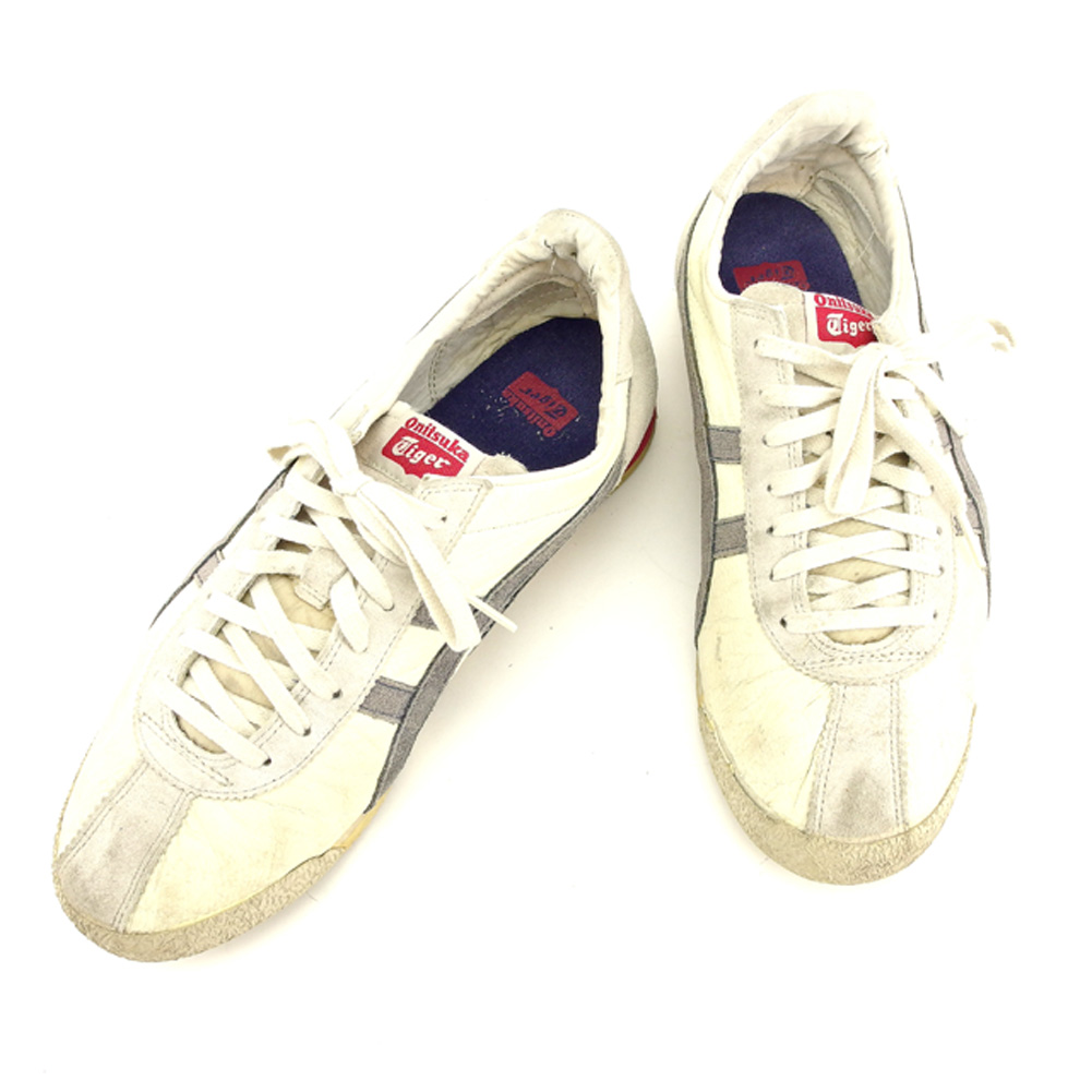 quality design 59f28 1168c Sale T7807 which there is Onitsuka tiger Onitsuka Tiger sneakers shoes  shoes men ♯ 26.5 low-frequency cut white white gray gray pink leather X  rubber ...