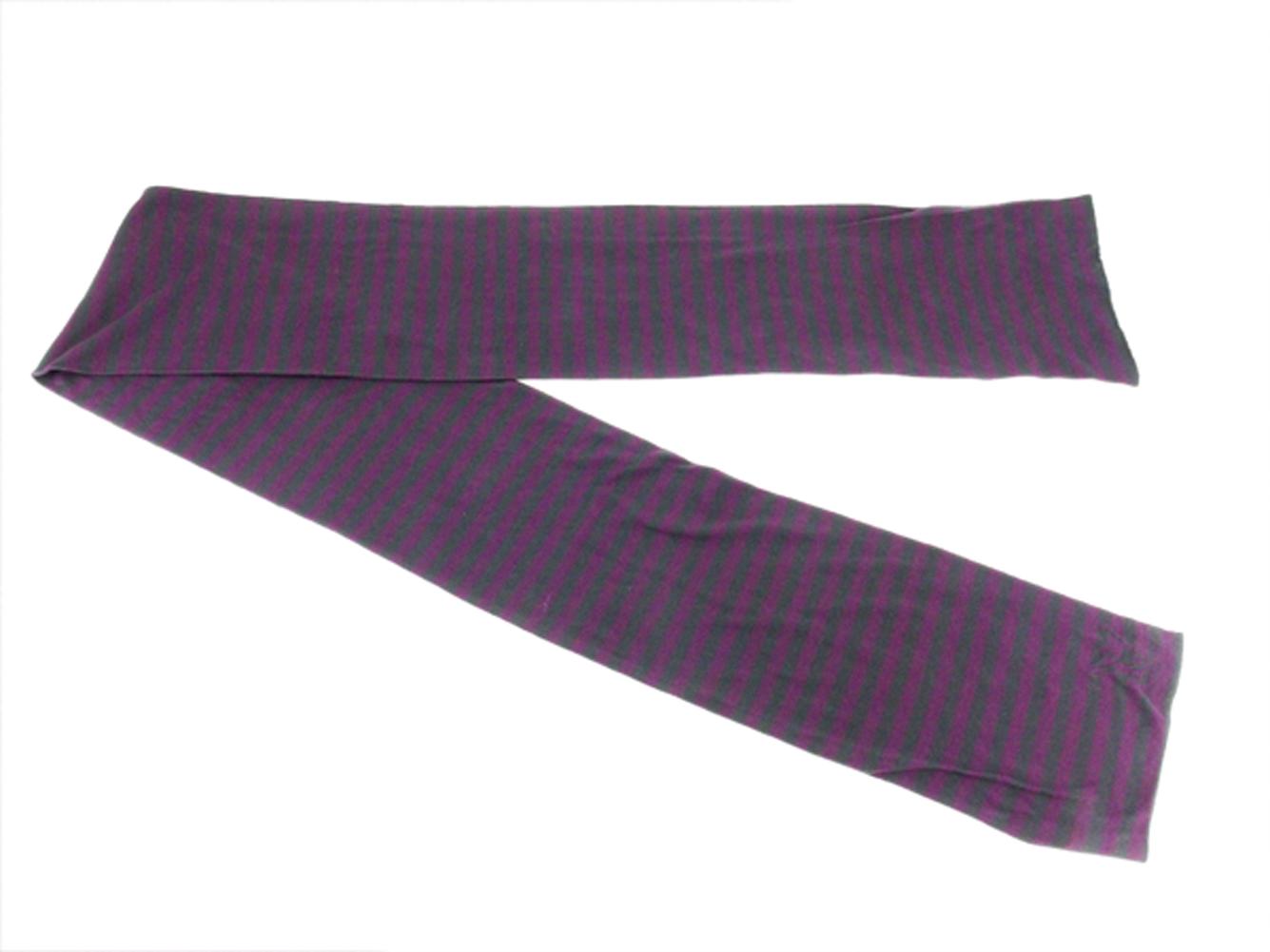 c4ead6840ee45 15% of Louis Vuitton Louis Vuitton scarf LV mark Lady s men horizontal  stripe purple gray gray cotton 85% cashmere beautiful article sale T13339.
