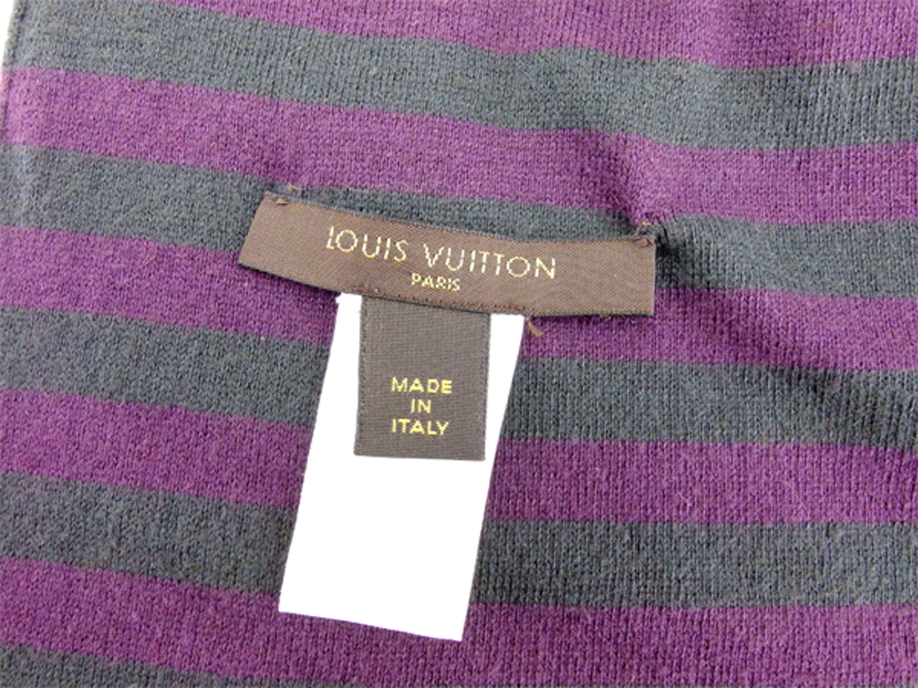 a3ae1b67d77 15% of Louis Vuitton Louis Vuitton scarf LV mark Lady s men horizontal  stripe purple gray gray cotton 85% cashmere beautiful article sale S897