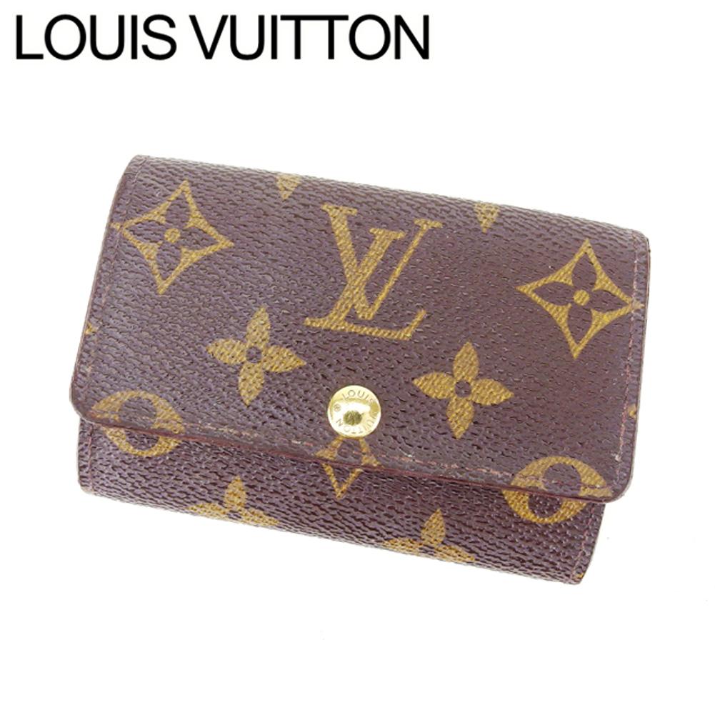 ルイ ヴィトン Louis Vuitton キーケース 6連キーケース メンズ可 ミュルティクレ6 モノグラム ブラウン ベージュ ゴールド モノグラムキャンバス 人気 セール 【中古】 T7484 .